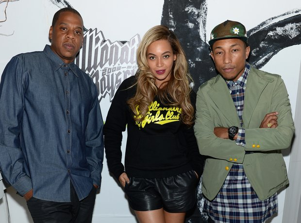 Jay-Z, Beyonce and Pharrell