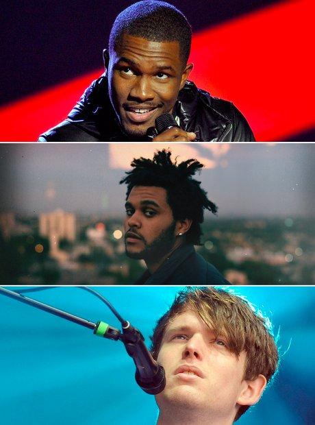 Frank Ocean, James Blake, The Weeknd