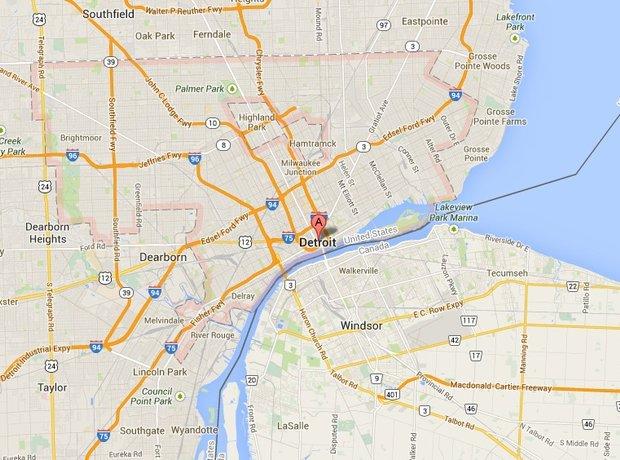 Detroit map