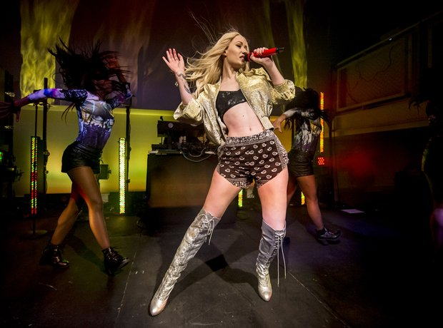 Iggy Azalea performing live at her album launch