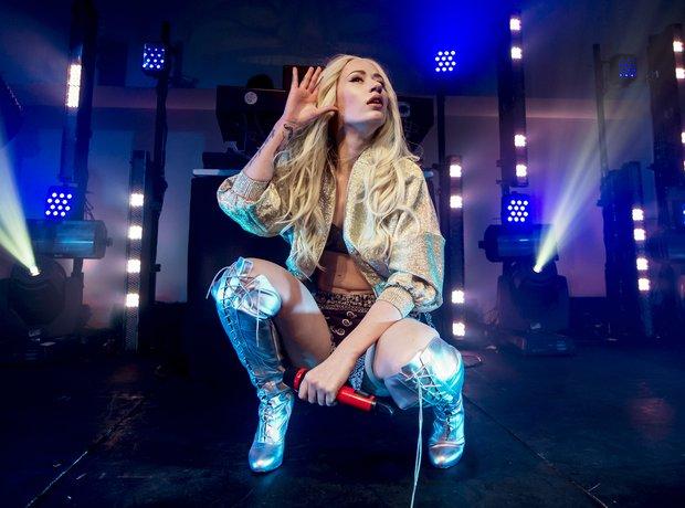 Iggy Azalea performs at her album launch
