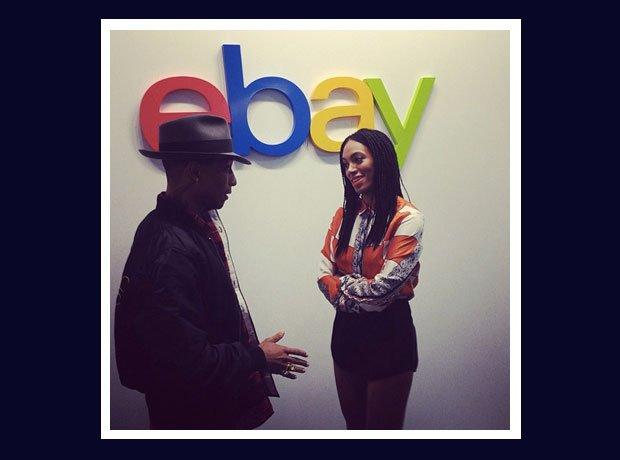 Pharrell Williams and Solange at ebay