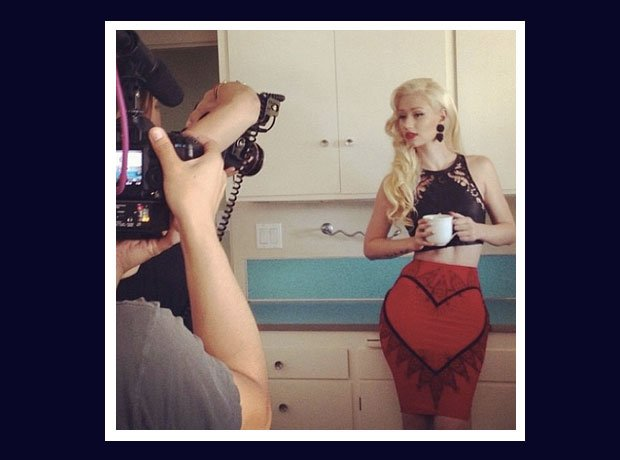 Iggy Azalea having a cup of tea