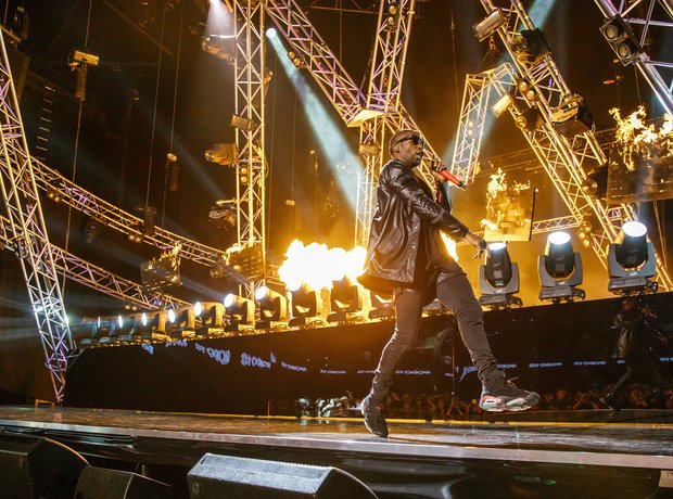 Tinie Tempah performs at the Mobo Awards