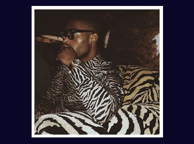Filtered wearing zebra print shirt