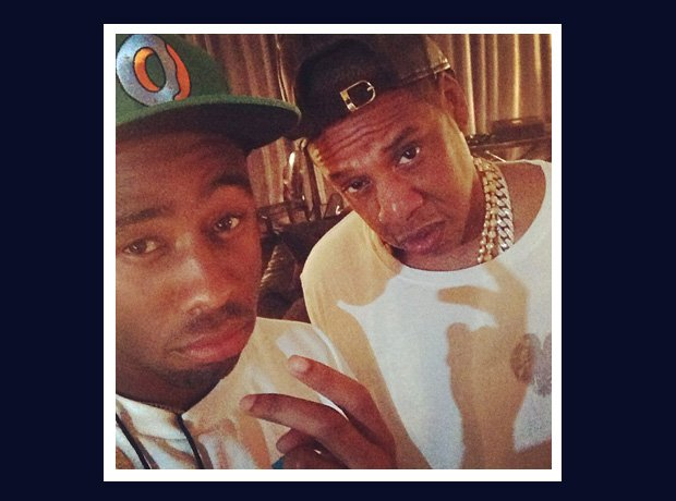 Tyler The Creator and Jay Z selfie