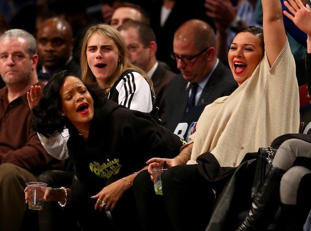 Rihanna and Cara Delevingne Basketball