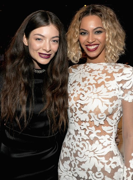 Lorde and Beyonce at the Grammy Awards