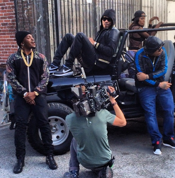 Move That Dope video shoot