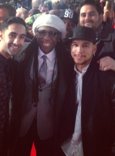 Rudimental and Nile Rodgers the Brit Awards 2014