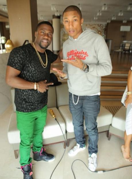 Kevin Hart and Pharrell