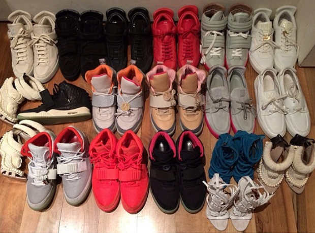 Kanye West Shoe collection