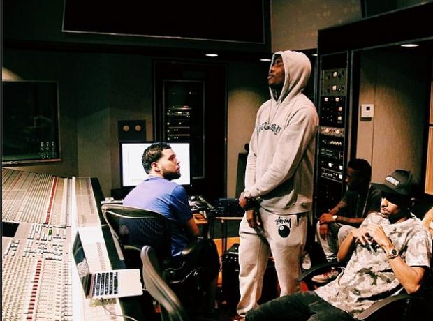 Big Sean Meek Mill in the studio  Instagram