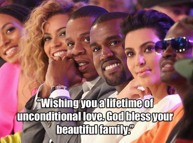Beyonce Message for Kanye and Kim