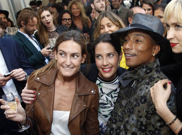 Pharrell with fans