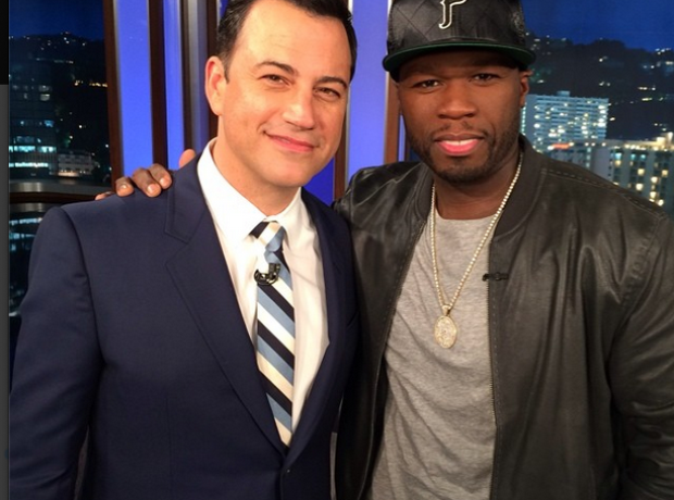 50 Cent and Jimmy Kimmell