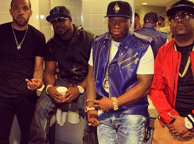 50 Cent With G Unit At Summer Jam
