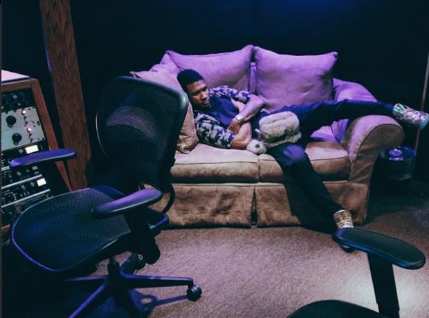 Usher asleep Instagram