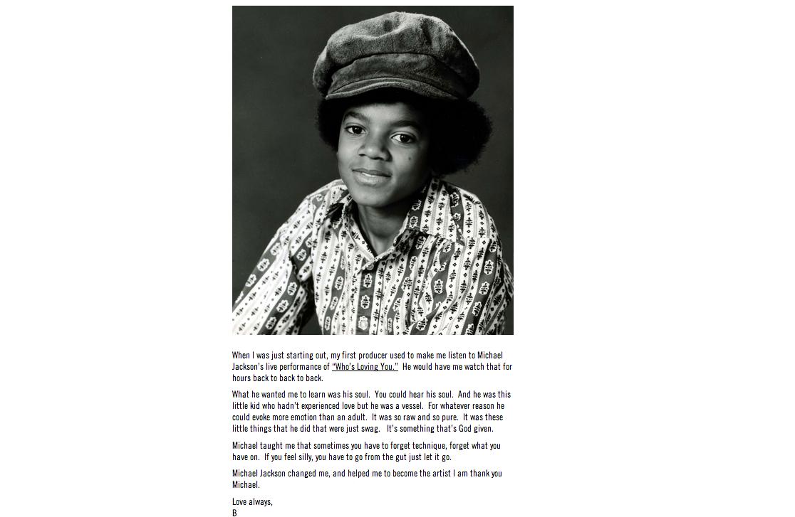 Beyonce Michael Jackson Tribute