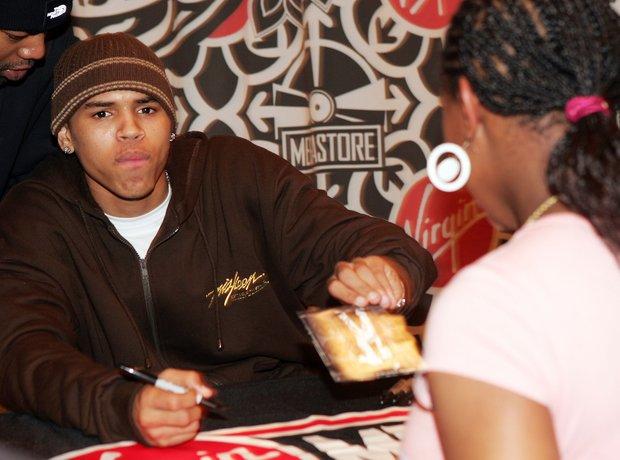 Chris Brown debut album signing