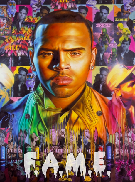 Chris Brown FAME artwork