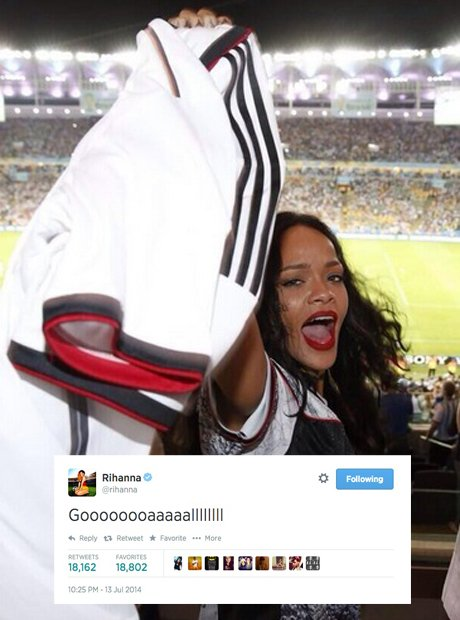 Rihanna at the world cup final