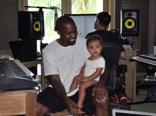 Kanye West and Daughter North West