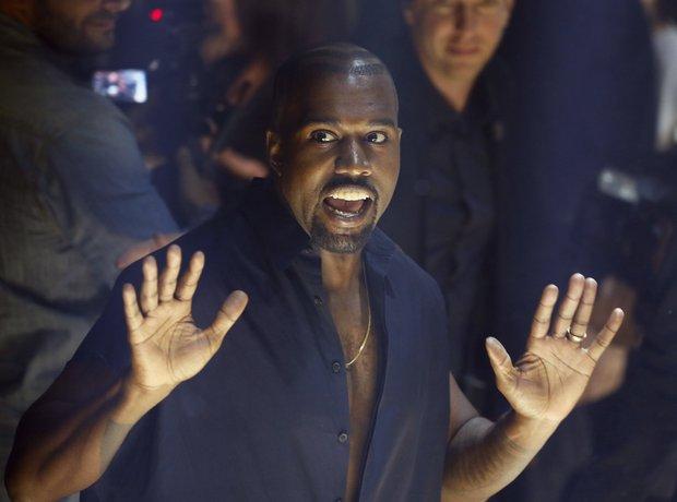 Kanye West Paris Fashion Week 2014
