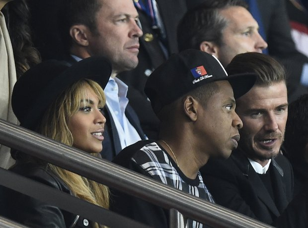 Beyonce, Jay Z and Beckham