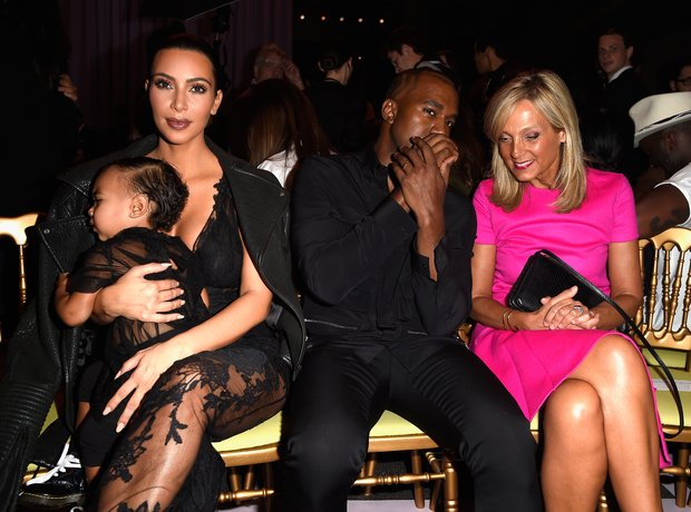 Kanye West Kim Kardashian paris fashion week