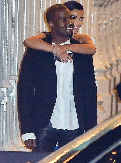 Kanye West and Kim Kasdashian