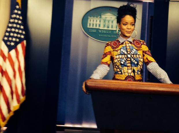 Rihanna White House