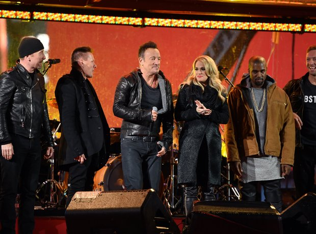 Kanye West Chris Martin Aids Day Concert