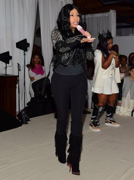 Nicki Minaj performs for a birthday party