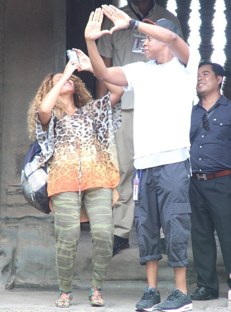 Beyonce and Jay Z on holiday