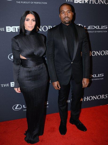 Kanye West Kim Kardashian BET Honours 2015