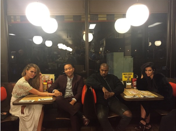 Kim and Kanye Double Date With John Legend