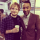 Image 10: Ed Sheeran and John Legend at Stevie Wonder concer