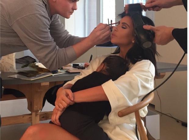 Kim Kardashian and North West instagram