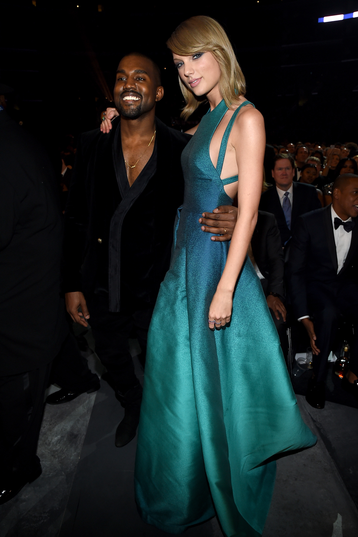 Taylor Swift Kanye West Grammys 2015
