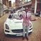 Image 9: Tinie Tempah takes a Mercedes-Benz SLS AMG Black Series for a drive last summer.