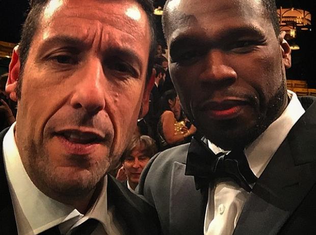 50 Cent and Adam Sandler