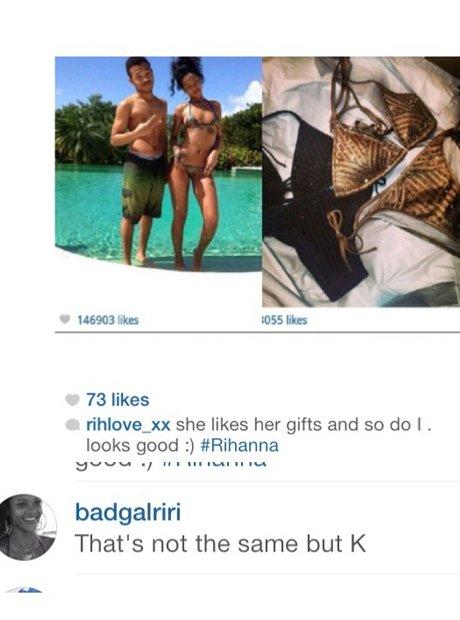 Rihanna throwing shade on instagram