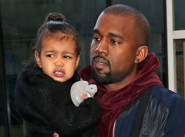 Kanye West and North