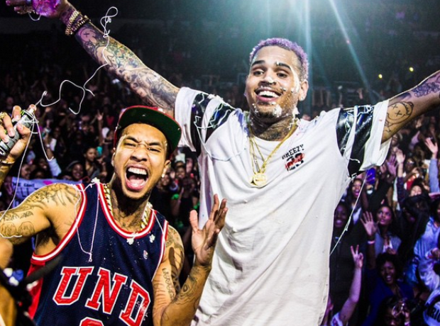 Chris Brown and Tyga