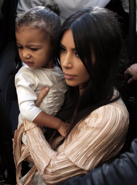 Kanye West and Kim Kardashian in Jerusalem