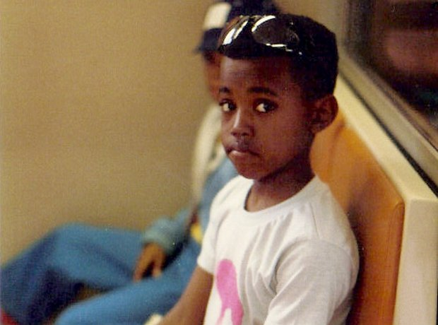 Kanye West as a Young Boy