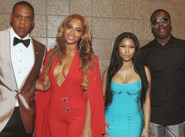 Beyonce Jay Z Nicki Minaj and Meek Mill Boxing Mat