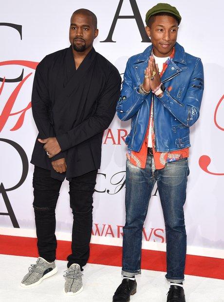 Kanye West Pharrell 2015 CFDA Fashion Awards 9