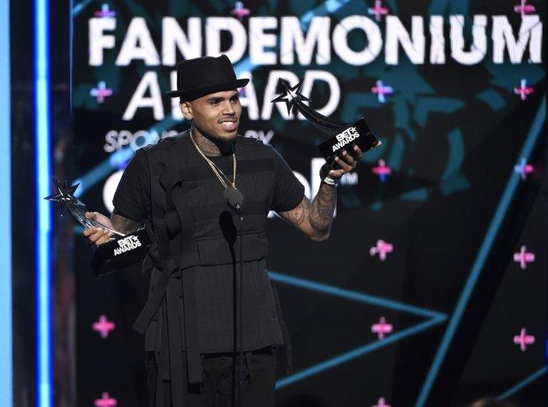 Chris Brown at the 2015 BET Awards